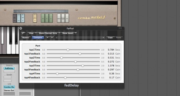 SuperColliderAU Plug-In Running In Logic Pro